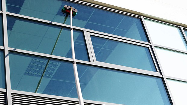 Groundbreaking waterfed pole technology and pure water cleaning system - the most advanced glass cleaning tool.